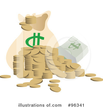 Royalty-Free (RF) Money Clipart Illustration by Rasmussen Images - Stock Sample #96341