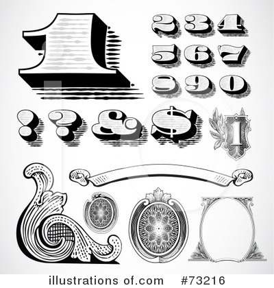 Vintage Numbers Clipart #73216 by BestVector