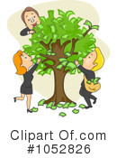 Royalty-Free (RF) Money Tree Clipart Illustration #1052826
