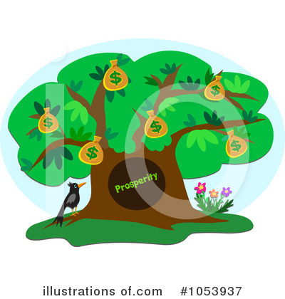 Money Tree Clipart #1053937 by bpearth