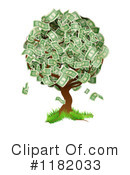 Royalty-Free (RF) Money Tree Clipart Illustration #1182033