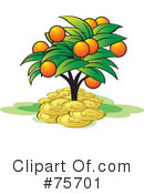 Royalty-Free (RF) Money Tree Clipart Illustration #75701