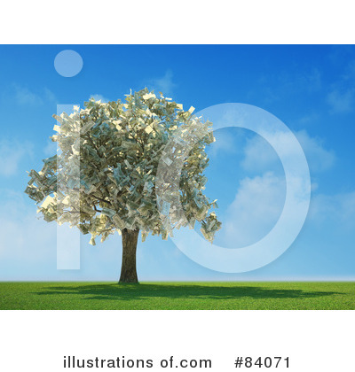 Royalty-Free (RF) Money Tree Clipart Illustration by Mopic - Stock Sample #84071