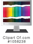 Royalty-Free (RF) Monitor Clipart Illustration #1058238