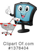 Royalty-Free (RF) Monitor Clipart Illustration #1378404