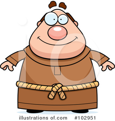 Monk Clipart #102951 by Cory Thoman