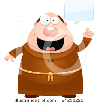 Monk Clipart #1232225 by Cory Thoman