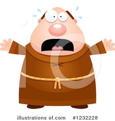 Monk Clipart #1232228 by Cory Thoman
