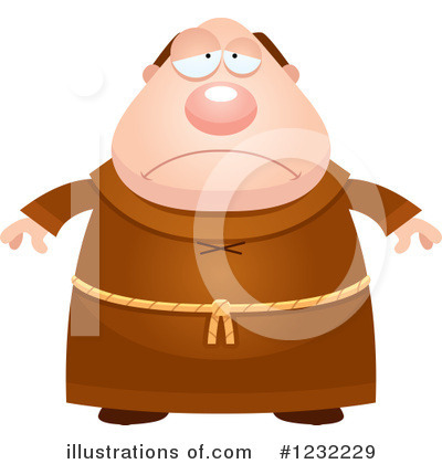 Monk Clipart #1232229 by Cory Thoman