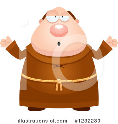 Monk Clipart #1232230 by Cory Thoman