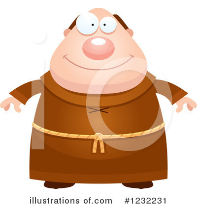 Royalty-Free (RF) Monk Clipart Illustration by Cory Thoman - Stock Sample #1232231