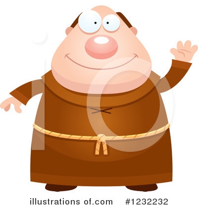 Monk Clipart #1232232 by Cory Thoman