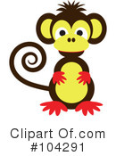 Royalty-Free (RF) Monkey Clipart Illustration #104291