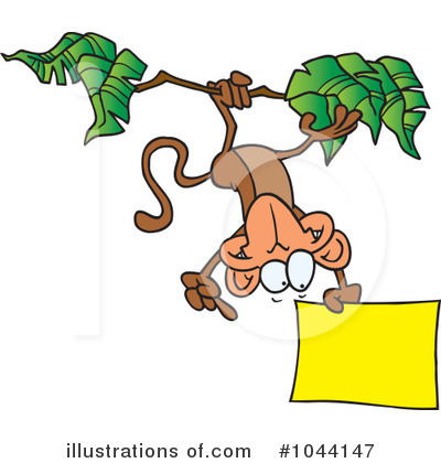 Monkey Clipart #1044147 by toonaday
