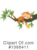 Royalty-Free (RF) Monkey Clipart Illustration #1066411