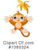 Royalty-Free (RF) Monkey Clipart Illustration #1080324