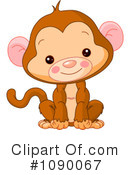Royalty-Free (RF) Monkey Clipart Illustration #1090067
