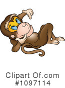 Royalty-Free (RF) Monkey Clipart Illustration #1097114