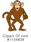 Royalty-Free (RF) Monkey Clipart Illustration #1104838