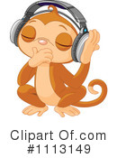 Royalty-Free (RF) Monkey Clipart Illustration #1113149