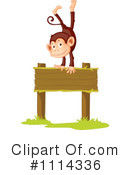Royalty-Free (RF) Monkey Clipart Illustration #1114336
