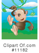 Royalty-Free (RF) Monkey Clipart Illustration #11182