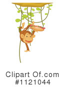Royalty-Free (RF) Monkey Clipart Illustration #1121044