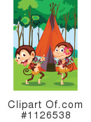 Royalty-Free (RF) Monkey Clipart Illustration #1126538