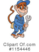 Royalty-Free (RF) Monkey Clipart Illustration #1154446