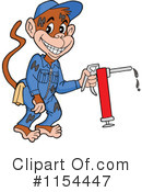 Royalty-Free (RF) Monkey Clipart Illustration #1154447