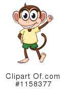 Royalty-Free (RF) Monkey Clipart Illustration #1158377
