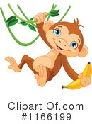 Royalty-Free (RF) Monkey Clipart Illustration #1166199