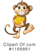 Royalty-Free (RF) Monkey Clipart Illustration #1166861