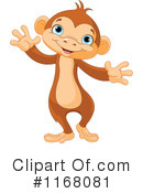Royalty-Free (RF) Monkey Clipart Illustration #1168081