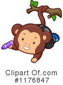 Royalty-Free (RF) Monkey Clipart Illustration #1176847