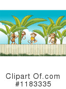 Royalty-Free (RF) Monkey Clipart Illustration #1183335