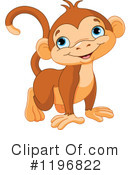 Royalty-Free (RF) Monkey Clipart Illustration #1196822