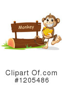 Royalty-Free (RF) Monkey Clipart Illustration #1205486