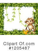 Royalty-Free (RF) Monkey Clipart Illustration #1205487