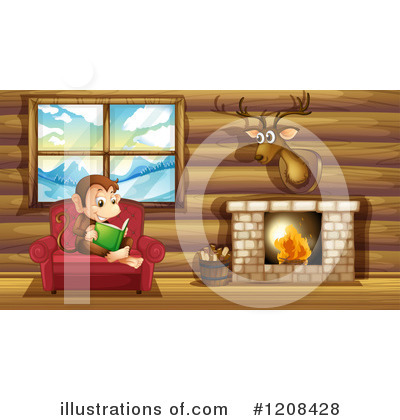 Fireplace Clipart #1208428 by Graphics RF