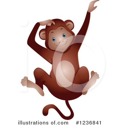 Monkey Clipart #1236841 by BNP Design Studio
