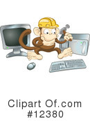 Royalty-Free (RF) Monkey Clipart Illustration #12380
