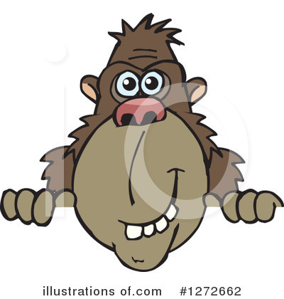 Royalty-Free (RF) Monkey Clipart Illustration by Dennis Holmes Designs - Stock Sample #1272662