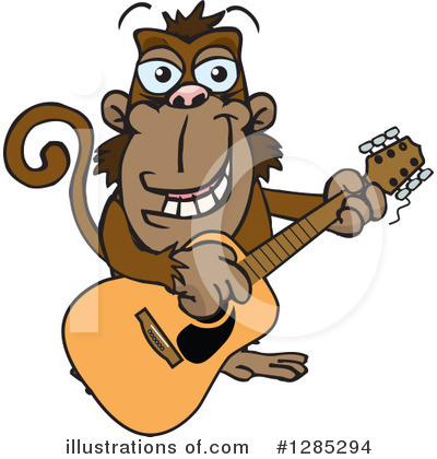 Monkey Clipart #1285294 by Dennis Holmes Designs