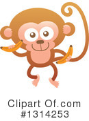 Monkey Clipart #1314253 by Zooco