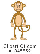 Royalty-Free (RF) Monkey Clipart Illustration #1345552