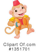 Royalty-Free (RF) Monkey Clipart Illustration #1351701