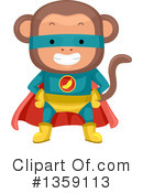Royalty-Free (RF) Monkey Clipart Illustration #1359113