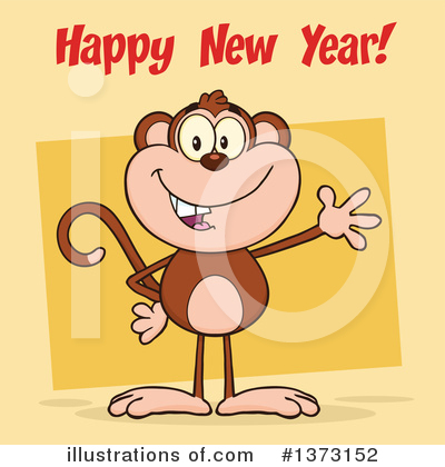 New Year Clipart #1373152 by Hit Toon