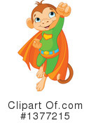 Royalty-Free (RF) Monkey Clipart Illustration #1377215